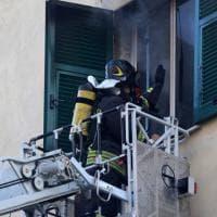 Incendio in un alloggio disabitato dietro la stazione di Principe