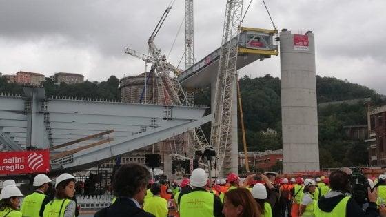 """Conte al varo del nuovo ponte sul Polcevera: """"La rinascita di Genova si sta concretizzando. La revoca della concessione va avanti"""""""