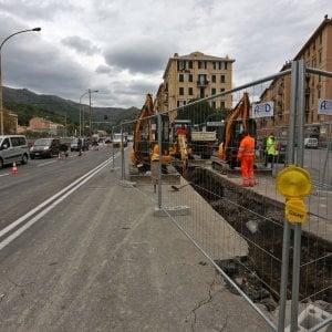 Condotta rotta: ancora disagi in Val Bisagno per la chiusura di Ponte Campanella