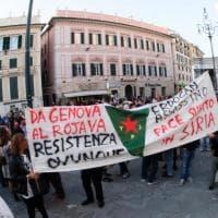 """""""Turchia vergogna!"""", Genova in piazza contro l'aggressione ai curdi"""