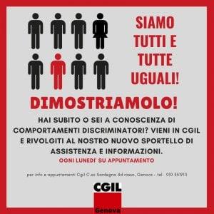 Discriminazioni sul lavoro, la Cgil apre il primo sportello a Genova