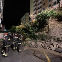 Crolla un muraglione vicino allo stadio Carlini