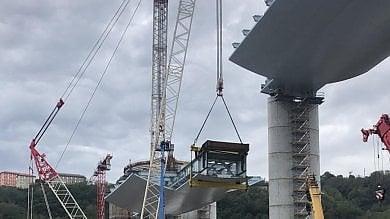 Nuovo ponte di Genova, varato in quota  il terzo impalcato