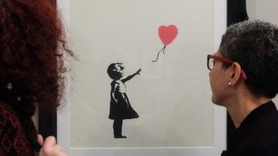 """Banksy al Ducale,  """"Il filo rosso è la verità""""  Video,     Fotogallery"""