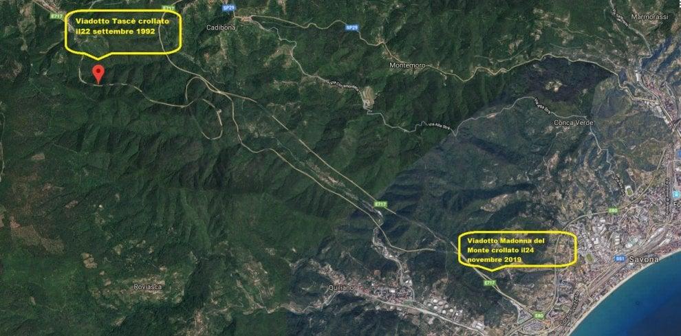Viadotto Savona: nel 1992 un crollo fotocopia sulla stessa autostrada A6