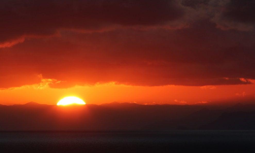 Un tramonto come un quadro
