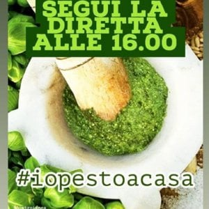 #iopestoacasa : il pesto al mortaio in diretta su instagram
