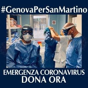 Coronavirus, #Genovapersanmartino, crowdfunding per l'ospedale
