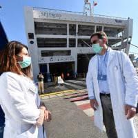Consegnata la nave ospedale nel porto di Genova, fino a 400 posti