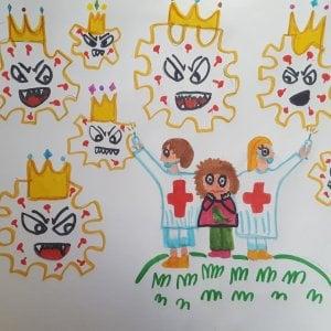 Il mostro-Covid visto dai bambini