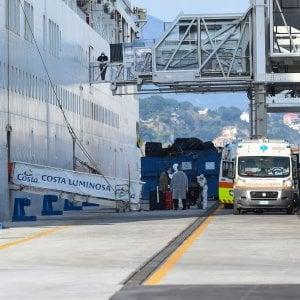 Coronavirus: Costa Luminosa, domani sbarco equipaggio, dieci ricoverati in ospedali liguri.