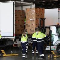 Coronavirus, arrivate a Genova due milioni di mascherine destinate ai cittadini liguri