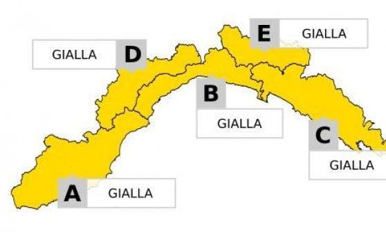 Ancora instabilità, sabato di allerta gialla in Liguria