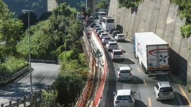 Autostrade e cantieri, chiusure a oltranza sull'A7: traffico ancora nel caos in Valpolcevera e Val Bisagno