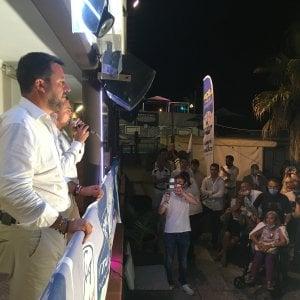 """Salvini a Genova: """"Le tensioni nella Lega? Parlo di cose reali, non di ufo"""""""
