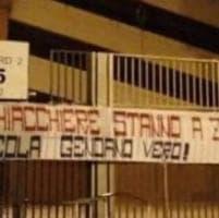 Genoa, striscione a favore di Nicola al centro sportivo di Pegli