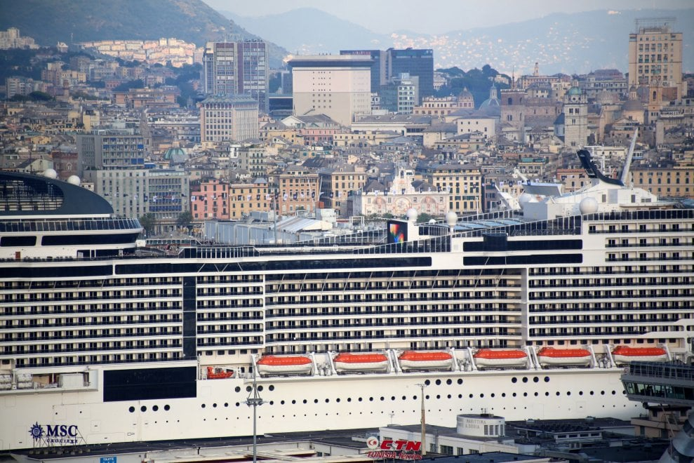 Partita Msc Grandiosa - Genova - la Repubblica