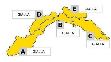 Temporali, allerta gialla in Liguria