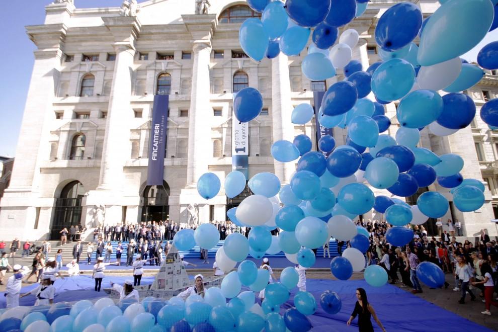 Acquista autentico alta qualità cercare Piazza Affari, il flashmob per la quotazione di Fincantieri ...