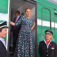 Expo, Ornella Muti tiene a battesimo il treno per il 2015