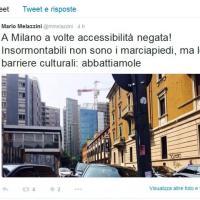Milano, sosta selvaggia: il tweet dell'assessore con la Sla