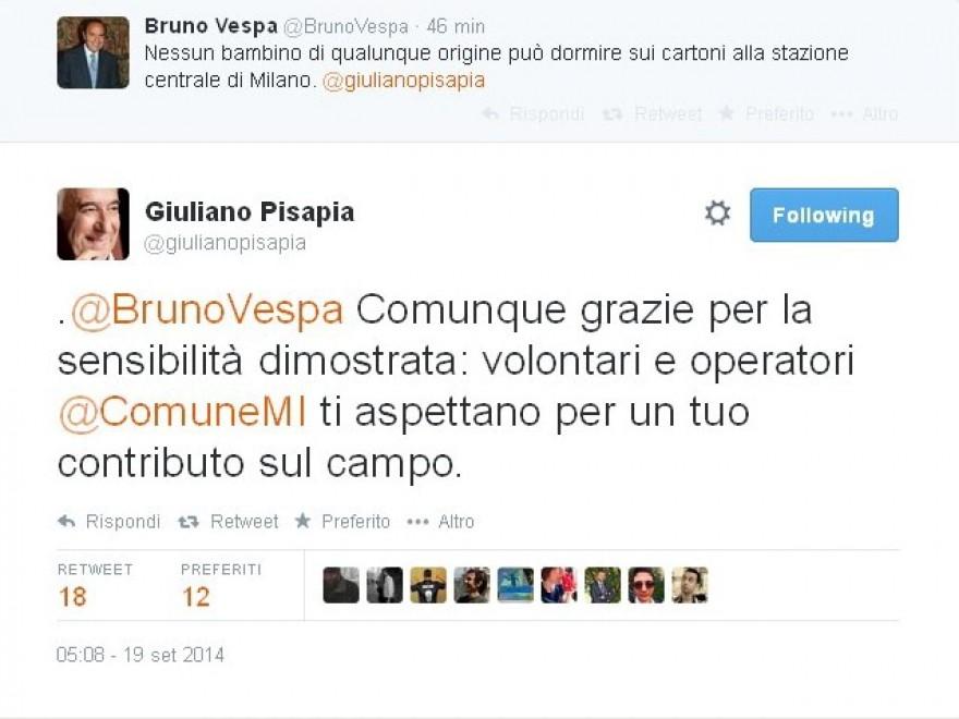 Milano, fra Pisapia e Vespa è polemica sui baby profughi