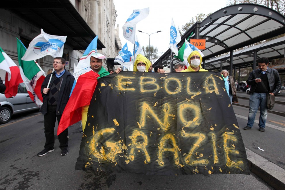 ebola destra fratelli d'italia immigrati paura