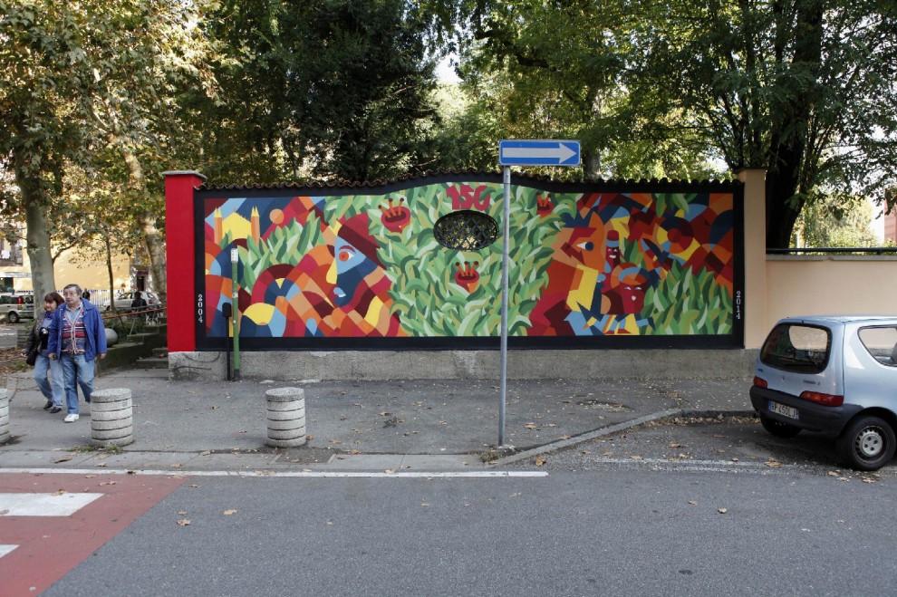 Sesto undici murales per festeggiare 110 anni di arte 1 for Ristorante murales milano