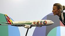 Il primo Airbus Alitalia  con la livrea di Expo