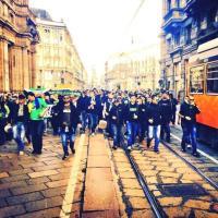 Milano, gli ultrà del Saint Etienne mandano la città in tilt