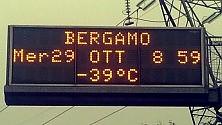 Il pannello è impazzito Bergamo è a -39 gradi