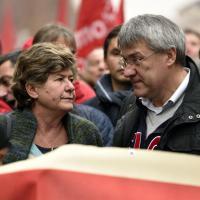 Milano, Camusso e Landini sfilano insieme in corteo
