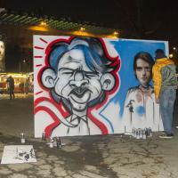 San Siro, i murales raccontano il derby in diretta