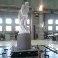 Milano, la superpedana anti sisma per la Pietà Rondanini