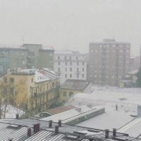 Milano, l'album della prima nevicata d'inverno