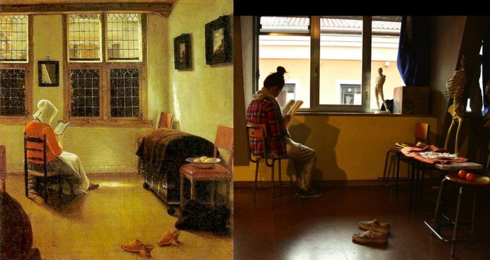 Bergamo, le liceali fanno rivivere i quadri con le lettrici