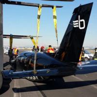 Linate, atterraggio d'emergenza per un aereo privato
