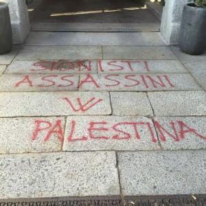Milano, scritte antisemite contro il convegno sulla Brigata Ebraica: la denuncia del Pd
