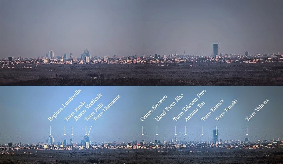 Milano e il suo skyline visto dal lago maggiore 1 di 1 for I nuovi grattacieli di milano