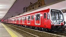 I nuovi treni rossi    del metrò per Expo