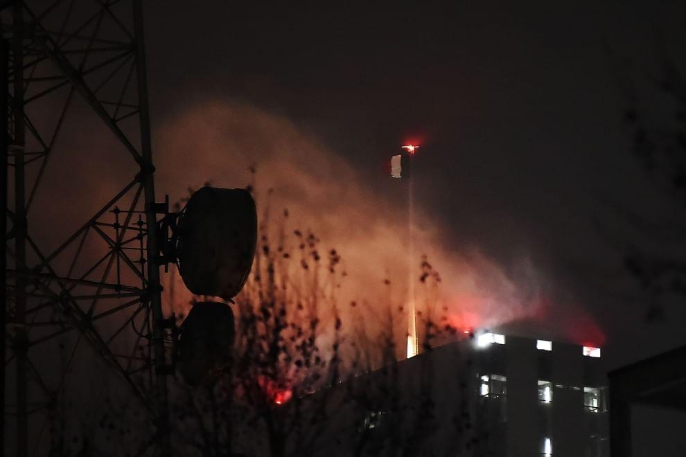 Torre Isozaki, allarme incendio: è un'illusione ottica