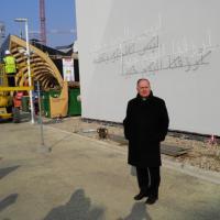 Expo, il saluto in arabo sul padiglione del Vaticano