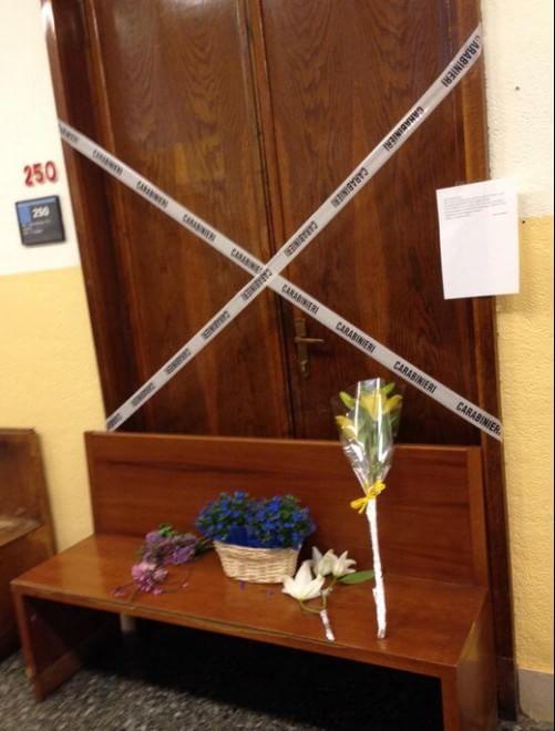 Strage al tribunale, fiori per ricordare il giudice Ciampi
