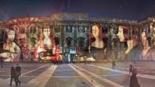 Il video mapping sul '400 risplende a Palazzo Reale