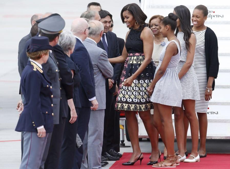 Michelle Obama a Milano, l'arrivo a Malpensa