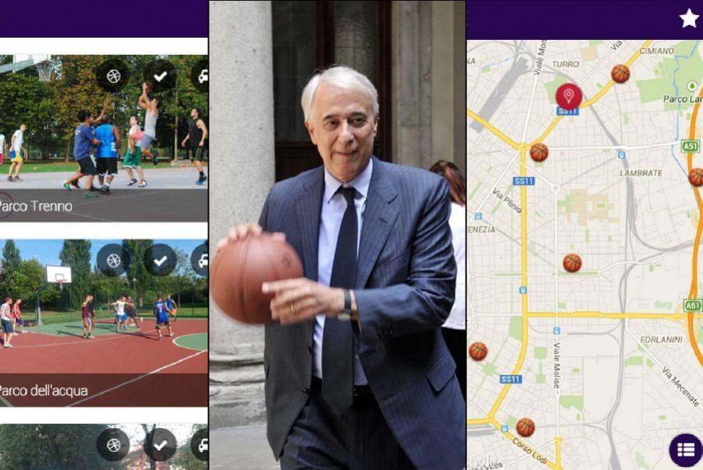 Pisapia con la palla a spicchi lancia la app dei 120 playground di Milano