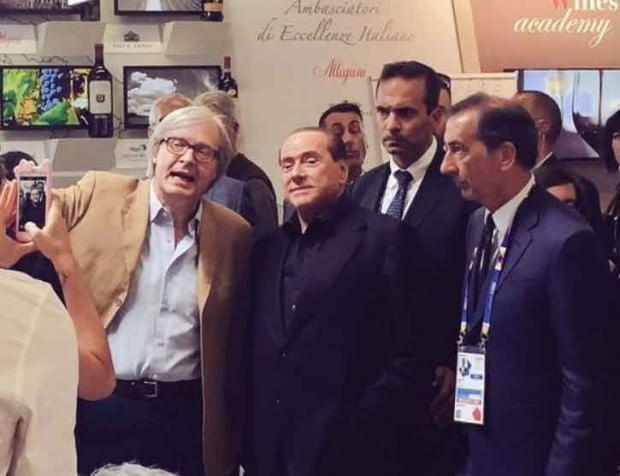 Expo, la visita di Berlusconi: prima tappa la mostra di Sgarbi