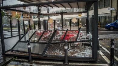 Foto  Bergamo, forte temporale in città  Alberi sradicati e vetrine spaccate