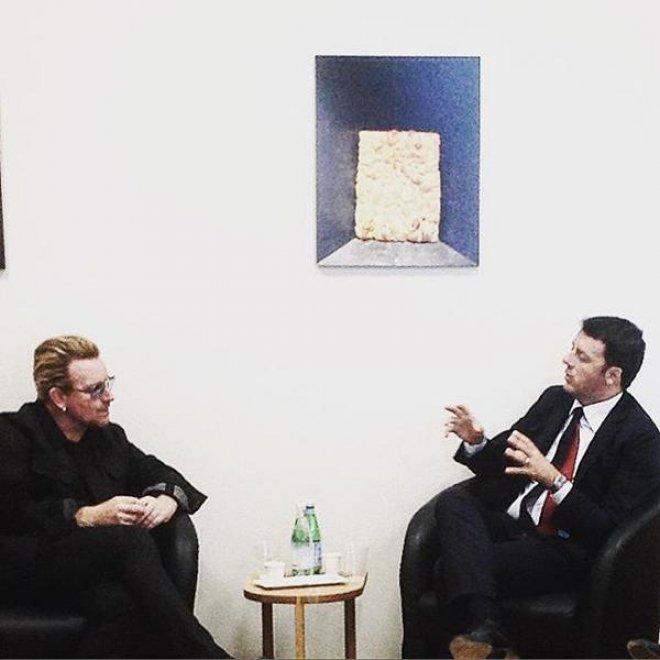 Expo, Bono a colloquio con Renzi: #cosedilavoro, l'incontro su Twitter
