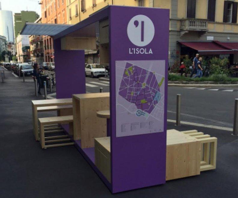 Milano, spuntano le isole lilla: sono i salotti del quartiere